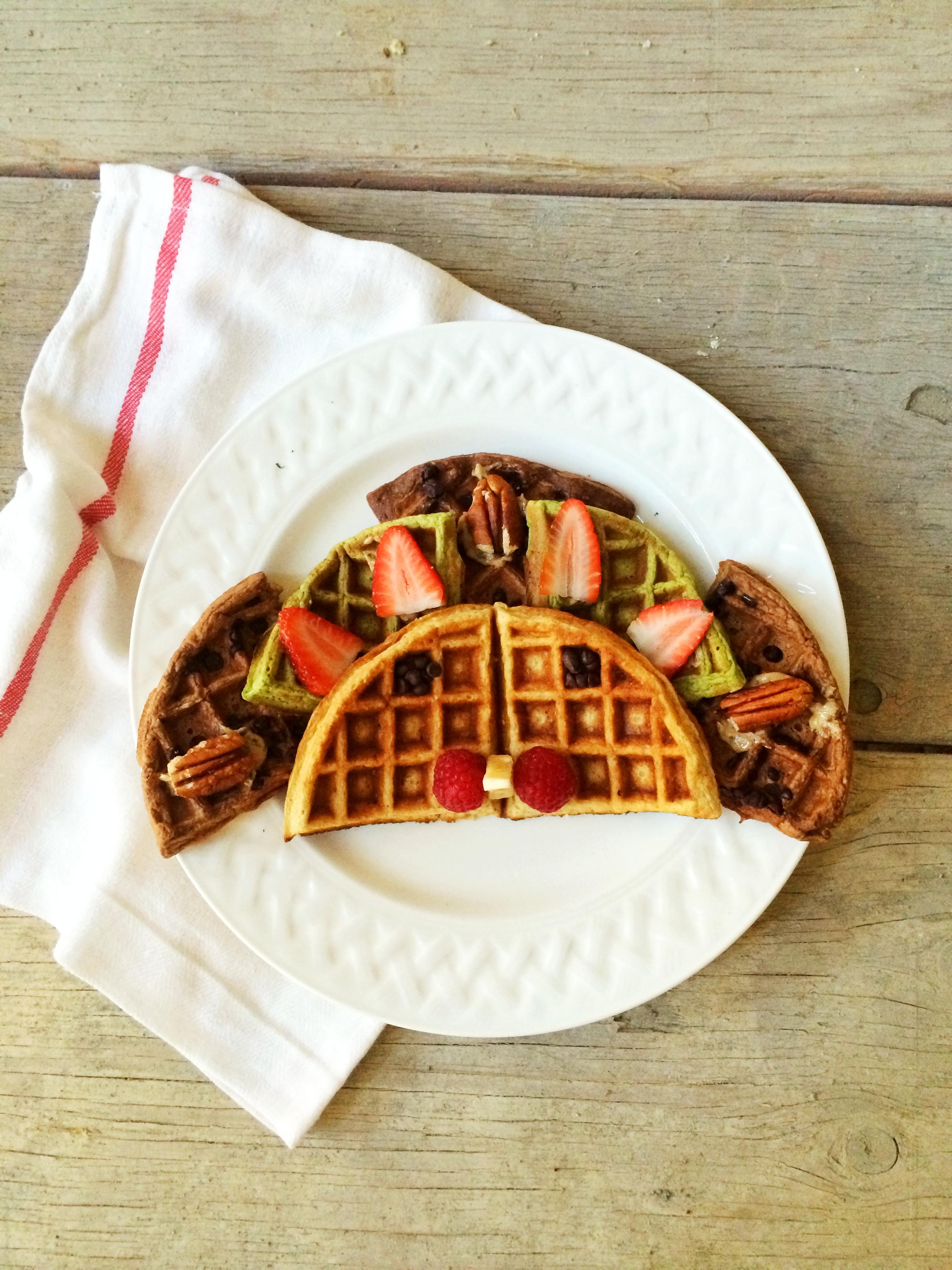 Thanksgiving turkey waffle art